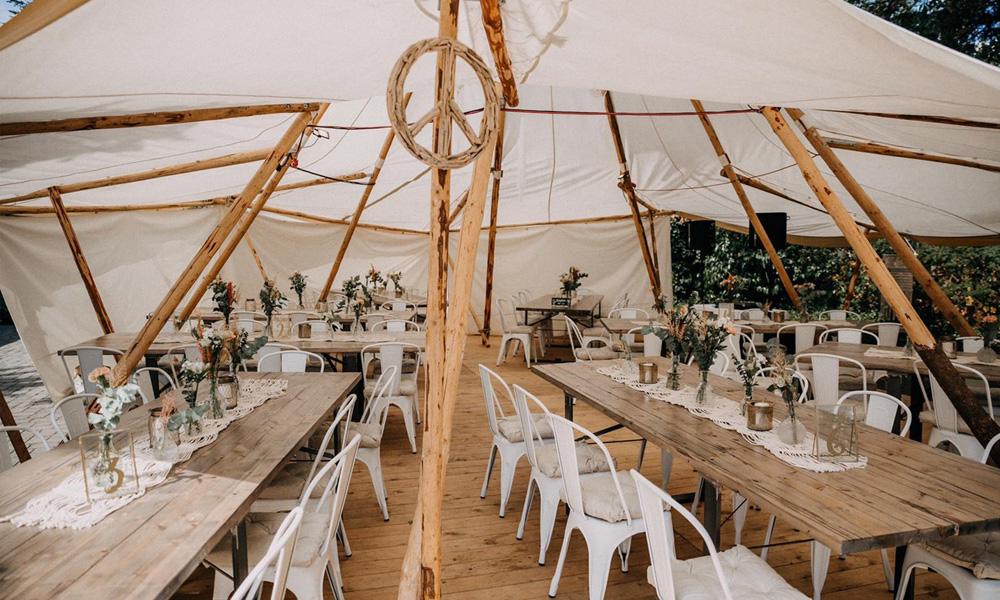 Möbel Boho-Hochzeit