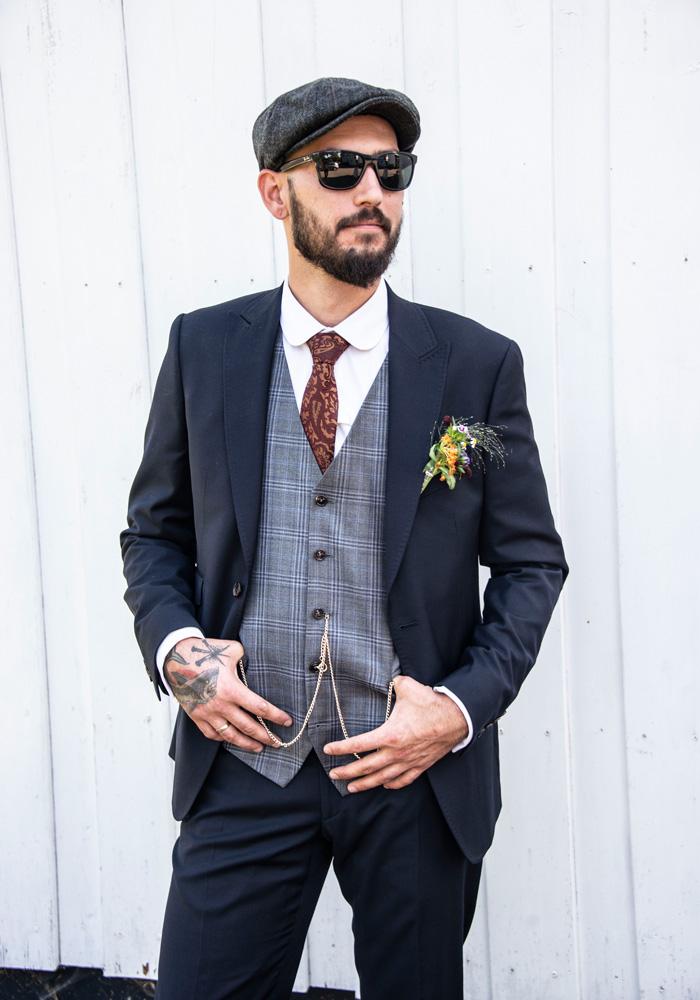 Anzug mit Weste für Hochzeit